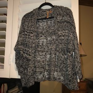 Sweaters - Knit cardigan salt and pepper